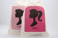 6x8 inch muslin favor bag--customize colors, $2.50