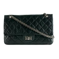 Chanel Reissue 2.55 Classic 225 Quilted Double Flap Shoulder Handbag ❤ liked on Polyvore