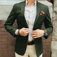 Green, beige and maroon
