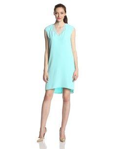 Calvin Klein Women's Plus-Size V-Neck Dress with Chiffon $77.70 (40% OFF)
