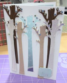 Helz Cuppleditch Winter Woodland Forest Christmas Card by Smidgett