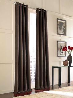 would love to replace curtains in dining rooms w/ floor length curtains like these