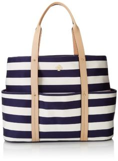 kate spade new york Toe The Line Victory Travel Tote,French Navy/Cream,One Size kate spade new york,http://www.amazon.com/dp/B00DNNZ10K/ref=cm_sw_r_pi_dp_727wtb01ZR1MKMJP