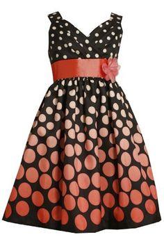 Size-12.5, Coral, BNJ-8652R Pleated Crossover Bodice Graded Dot Print Shantung Dress,R88652 Bonnie Jean Girl Plus-Size Special Occasion Flower Girl Party Dress Bonnie Jean,http://www.amazon.com/dp/B00AT54QVK/ref=cm_sw_r_pi_dp_mu72qb1TARHC181E