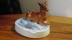 Vintage Ceramic Baby Deer Ashtray by kitschannette on Etsy