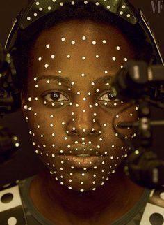 .Lupita Nyongo at Industrial Light & Magic, being transformed into the CGI character Maz Kanata