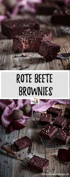 Diese leckeren Brownies mit Roter Beete sind nicht nur richtig lecker, sonder auch vegan, glutenfrei und ohne Zucker! - www.appleandginger.de #vegan #veganrecipes #backen #brownies #glutenfrei #zuckerfrei #rotebeete