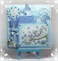 Downrightcrafty: Wild Rose Studio Baby Boy Card Studio Cards, Congratulations Baby, Handmade Stamps, Baby Shower Cards, Baby Crafts, Kids Cards, Creative Cards, Cardmaking, Birthday Cards