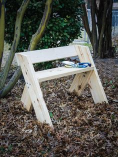 This simple bench is perfect for long gardening tasks or for just sitting under your favorite shade tree.