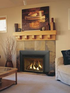 The Shoreline gas insert ($2,910 to $3,103) optimizes heat output and is a smart way to update your fireplace.