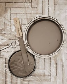 This neutral brown wall paint color, Dirty Chai, is the perfect nutty mix of warm and cool. Shop now at Clare.com!