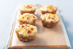 Press stuffing mix into a muffin tin. Add an egg to each cup and top with bacon bits and cheese. Bake 20 minutes—then accept praise for your brilliance.