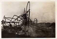Wreckage of one of the first Zeppelin's, LZ 4.