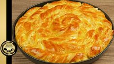 Pie with greek feta cheese - GOLDEN RECIPES Pudding, Pastry Cake, Mediterranean Recipes, Greek Recipes, Macaroni And Cheese, Food And Drink, Cooking Recipes, Yummy Food, Ethnic Recipes