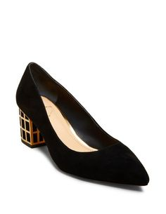 B Brian Atwood Embellished Suede Pumps order cheap online lm8TgkyXTw