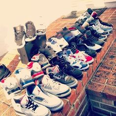 I could tell you all the names and numbers of those Jordan's ^.^