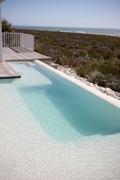 Perfectly secluded, private pool (perfect for a little bronzage nue or a moonlit skinny dip)- At the Beach, Britannia Bay Beautiful Pools, Hot Tubs, Private Pool, Holiday Destinations, Backyard Patio, Aqua Blue, Blue Topaz, Dip, Beach House