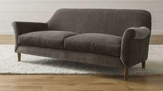 "Cullen Apartment Sofa | Crate and Barrel  2599. Width: 84""  Depth: 35""  Height: 31"""