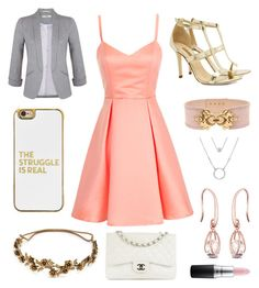 Ms. CEO by houslanderl on Polyvore featuring polyvore, fashion, style, Miss Selfridge, Dee Keller, Chanel, BaubleBar, Jennifer Behr, Balmain, MAC Cosmetics and clothing