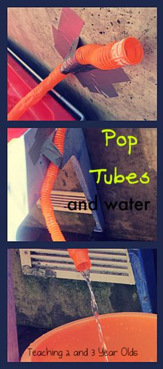 Using Pop Tubes with Water Play :Teaching 2 and 3 Year Olds: