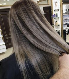 Long Wavy Ash-Brown Balayage - 20 Light Brown Hair Color Ideas for Your New Look - The Trending Hairstyle Ash Hair, Brown Blonde Hair, Brunette Hair, Ash Blonde Balayage Dark, Light Ashy Brown Hair, Cool Tone Brown Hair, Light Brunette, Ash Brown Hair Color, Light Ash Blonde