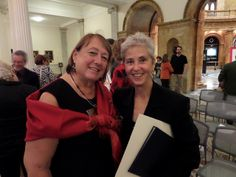 """MBLC Commissioner and Fiction Chair Jan Resnick (l) and Laura Harrington author of """"Alice Bliss"""""""