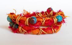 Sari ribbon wrap bracelet