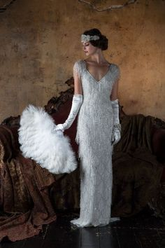 Wedding Dress Vintage 2016 Wedding Dresses Eliza Jane Howell 'The Grand Opera' Collection - I'm blown away by today's theatrical-inspired wedding dress feature. Gill Harvey has brought together her years of experience to create Eliza Jane Howell Gatsby Wedding Dress, Great Gatsby Wedding, 2016 Wedding Dresses, Wedding Gowns, Wedding Parties, Dresses 2016, Star Wedding, Great Gatsby Party Dress, Wedding Ideas