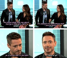 Uh-oh, Robert.  (Robert Downey Jr. interviewed by Entertainment Tonight at San Diego Comic Con, July 26, 2014.)