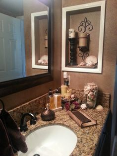 Remove medicine cabinet, add tile and glass shelving | dream home ...