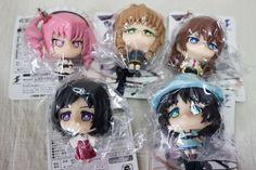Set of 5 Steins ; Gate Kyun Chara Mini Figure Ball Chain JAPAN ANIME