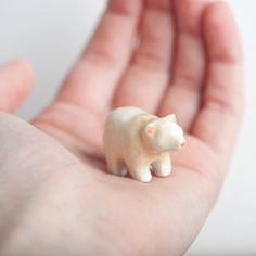 Spirit Bear, Bear Totem, Animal Totems, Miniatures - le animalé by leanimale on Etsy https://www.etsy.com/listing/130212411/spirit-bear-bear-totem-animal-totems