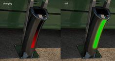 V-tent solar EV charging station