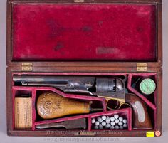 A cased model 1860 Colt Army Revolver that belonged to General Martin D. Revolver, Gettysburg Museum, Westerns, Black Powder Guns, Flintlock Pistol, Hand Cannon, Hunting Guns, Fire Powers, Musketeers