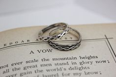 Celtic Endless Knot Wedding Band Set in by moonkistdesigns on Etsy, $80.00