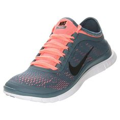Nike Women's Free 3.0 v5 Running Shoes, Armory Slate/Black/Atomic Pink - 10.0