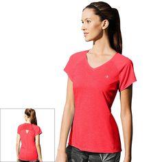 Women's Champion Marathon V-Neck Running Tee, Size: Medium, Brt Pink
