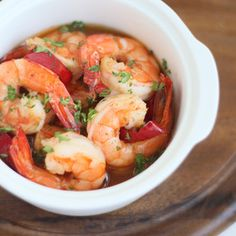 A very popular tapas dish - Gambas al Pil Pil. Super tasty and it only takes minutes to prepare. Promise!