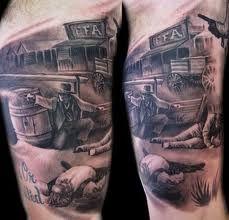 Western Tattoos For Men - Tattooed Country Tattoo for Men - Western Tatt . - Western Tattoos For Men – Tattooed Country Tattoo for Men – Western Tattoos … … – Western - country tattoo for men Cowboy Tattoos, Western Tattoos, Leg Tattoos, Body Art Tattoos, Small Tattoos, Tattoos For Guys, Sleeve Tattoos, Tattoos For Women, Tatoos
