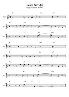 Blanca Navidad | MuseScore Free Sheet Music, Free In, Musical, Work Hard, Piano, Pdf, Ideas, Flute, Sheet Music