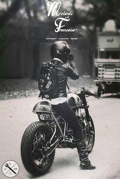 motorcycle - cafe racer - lifestyle - accesories - motards à la française - clothing - vêtements custom lifestyle - tee shirt motard - tee shirt biker - sweat mode - handmade - MALF -https://www.facebook.com/pages/Motards-à-La-Française