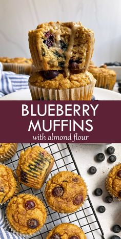 These easy paleo blueberry muffins are made with almond flour. They're moist, lightly sweetened and perfect for a healthy breakfast or snack. #paleomuffins #almondflour #blueberrymuffins Healthy Muffin Recipes, Healthy Muffins, Snack Recipes, Paleo Recipes, Healthy Foods, Free Recipes, Paleo Blueberry Muffins, Blue Berry Muffins, Blueberry Muffins Almond Flour