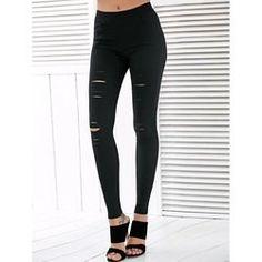 9.07$  Buy now - http://vikqe.justgood.pw/vig/item.php?t=wm3w8b736788 - High Waisted Ripped Leggings