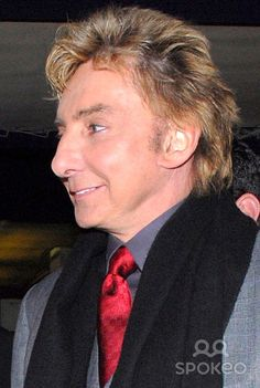 barry manilow photos 2014 | Barry Manilow leaving The Colbert Report at Comedy Central Studios
