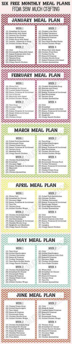 50 best Menu Planning images on Pinterest Budget meal planning