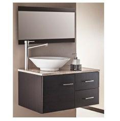 Mueble para ba o 24 cannes maui lavabo y espejo biselado for Llave lavamanos sodimac