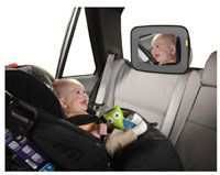 $10 mirror that allows you to see baby while driving and baby to look at himself