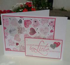Pink Silber Hochzeitskarte