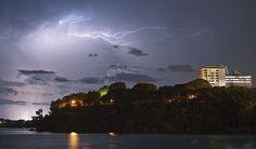 Anvil crawler lightning over Darwin, NT, AU