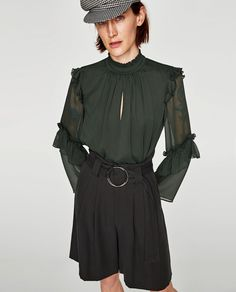 Image 2 of FRILLED BLOUSE from Zara